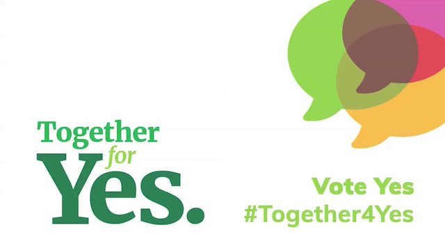 Together For Yes banner